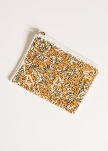 PERFECT TOUCH BEADED POUCH