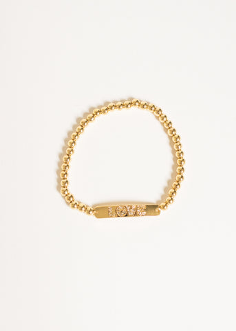 LOVE GOLD BEADED BRACELET