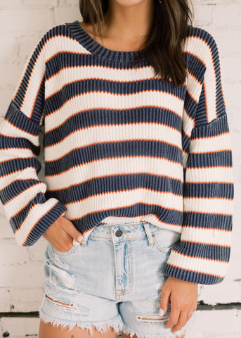 GO GAMEDAY STRIPE SWEATER