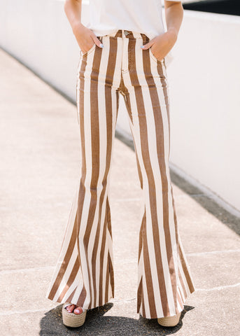 GO BOLD STRIPED FLARES