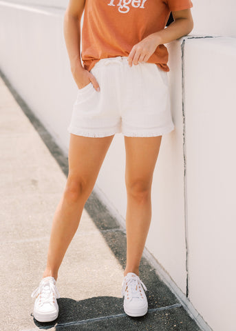 EFFORTLESS ELASTIC WAISTBAND SHORTS