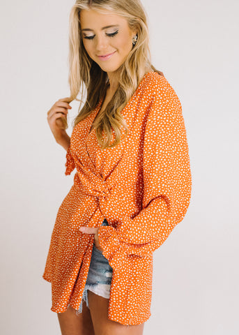 OUT TO BE SPOTTED TUNIC TOP