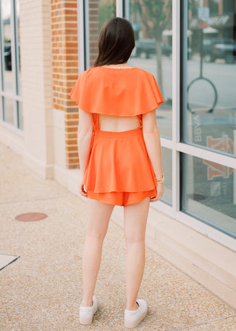 BRIGHTER DAYS RUFFLE ROMPER