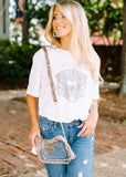 FADED TIGER HEAD DISTRESSED TEE BY SCARLET & GOLD
