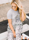FADED TIGER HEAD CROP TEE BY SCARLET & GOLD