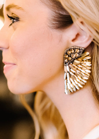 FOREVER FEATHER WING EARRINGS