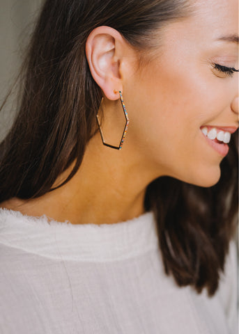 ENDLESS LOVE RAINBOW HOOP EARRINGS