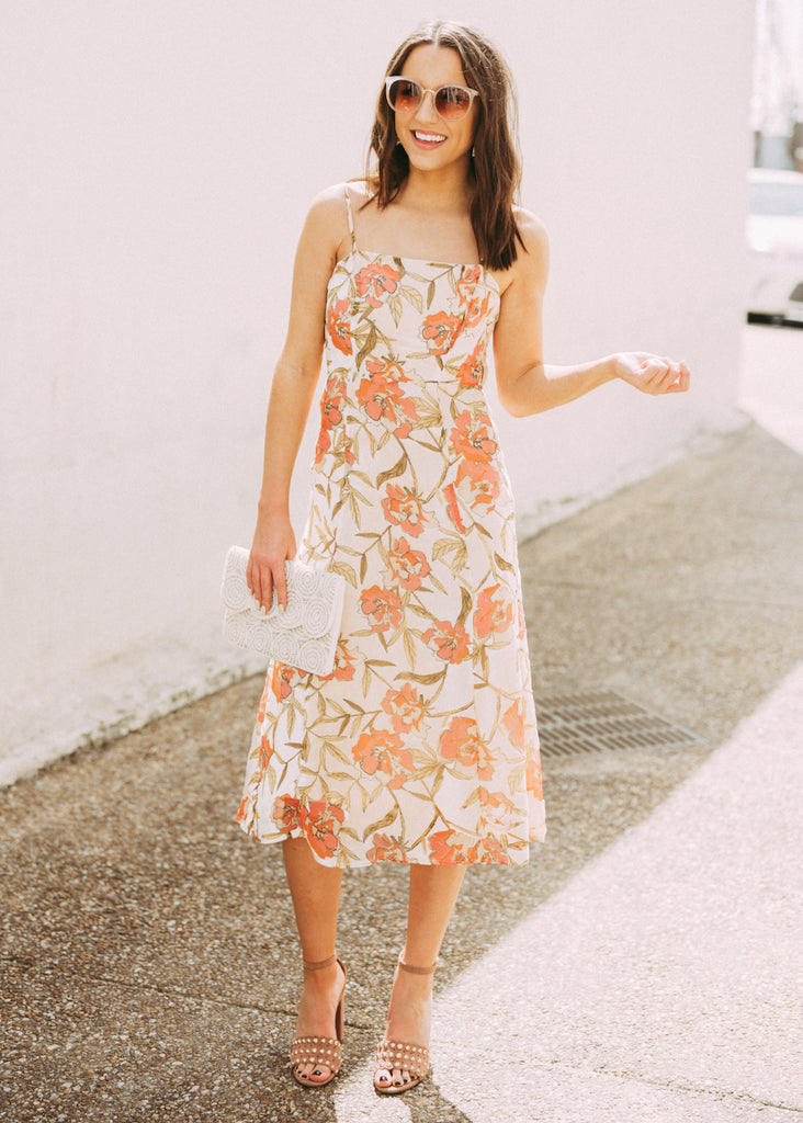 NEW YOU FLORAL MIDI DRESS
