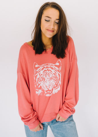 TOTALLY TIGER GRAPHIC SWEATSHIRT
