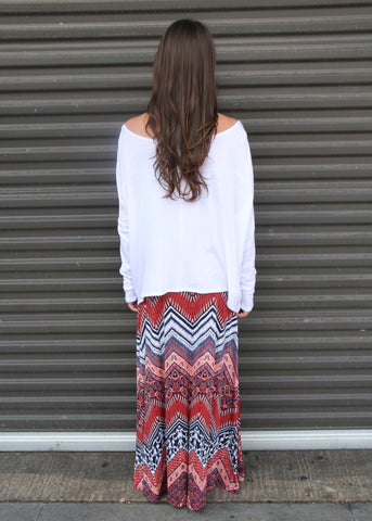 BLURRED LINES MAXI SKIRT