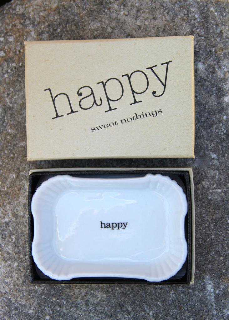 """HAPPY"" TRINKET DISH"