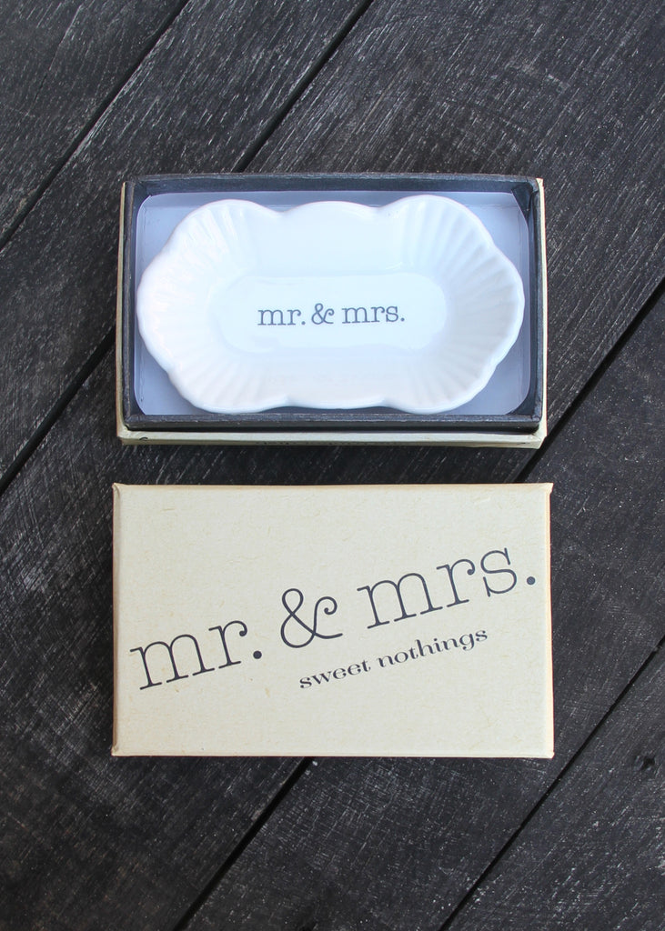 """MR. & MRS."" TRINKET DISH"