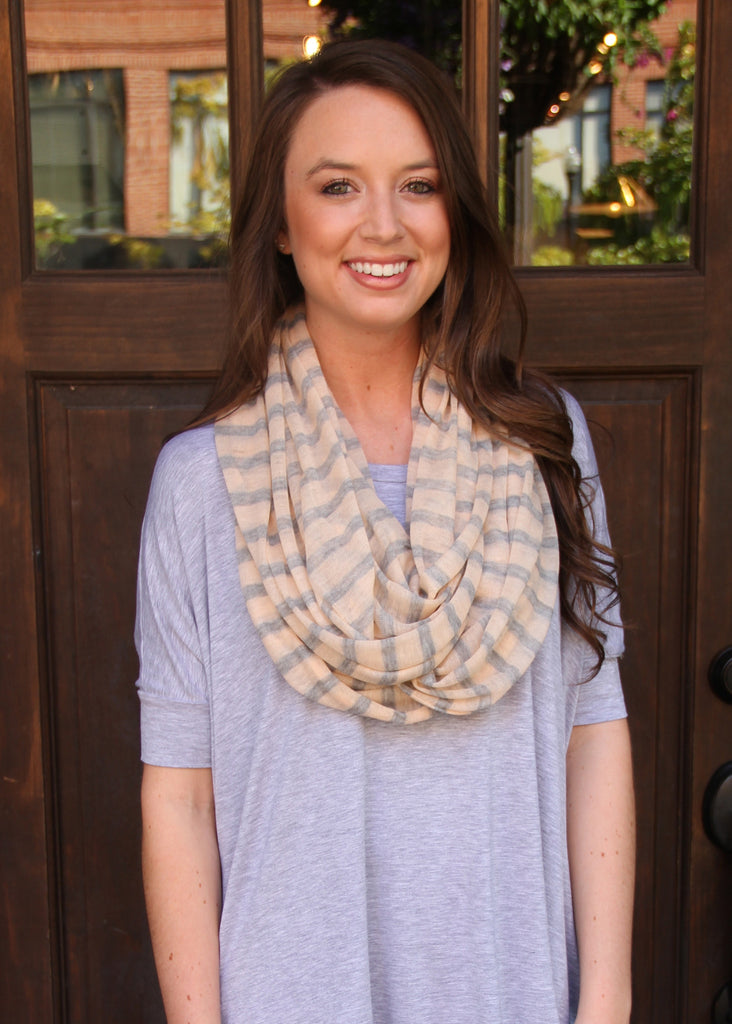 PEPPERMINT TWISTED INFINITY SCARF