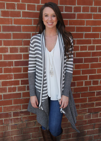 Stripe it Rich Cardigan