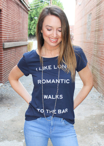WALKS TO THE BAR GRAPHIC TEE