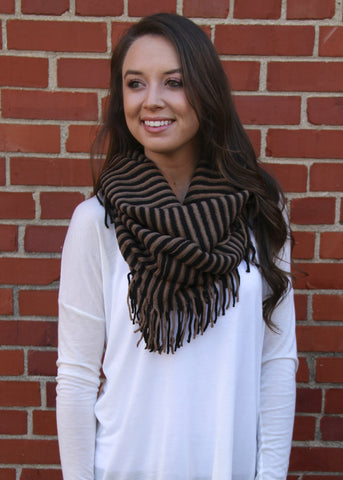 Midnight Stripes Infinity Scarf