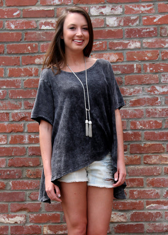 OVERSIZED HIGH/LOW HEM TEE