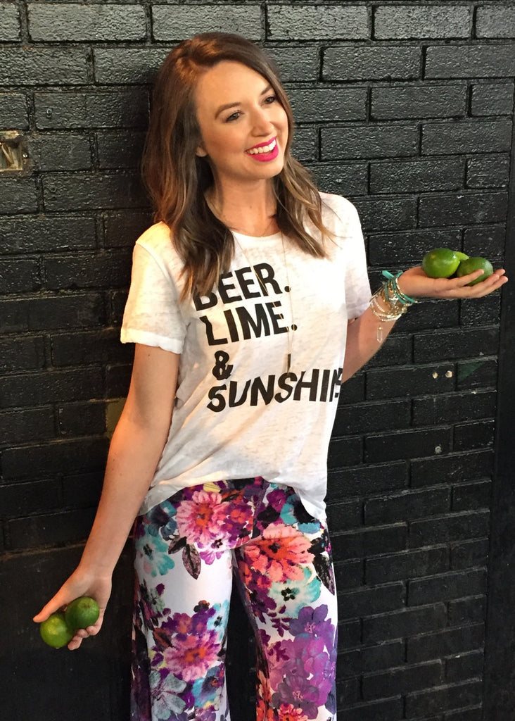 BEER LIME SUNSHINE TOP