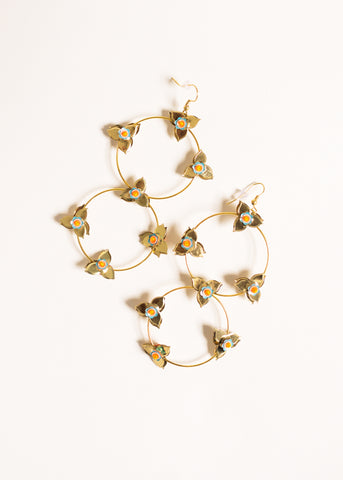 GARDENS OF LIFE FLOWER EARRINGS