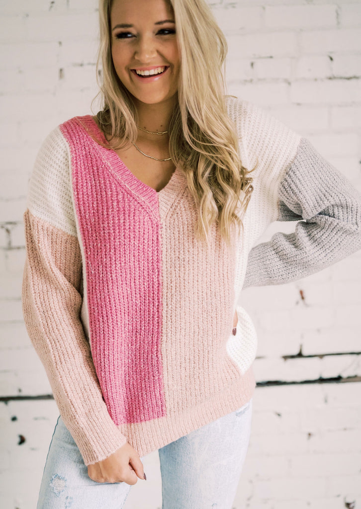 SWEET SURRENDER COLORBLOCK SWEATER