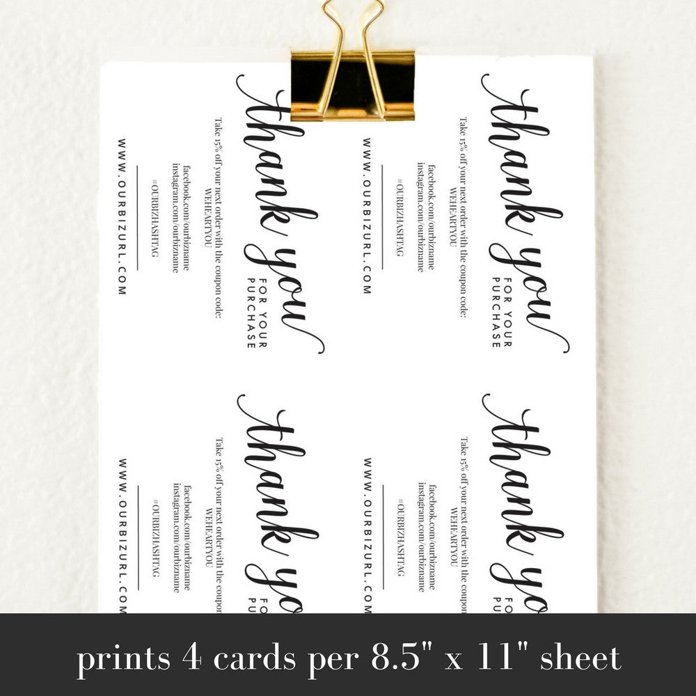 Printable business thank you cards template amelia holly casto printable business thank you cards template amelia accmission Images