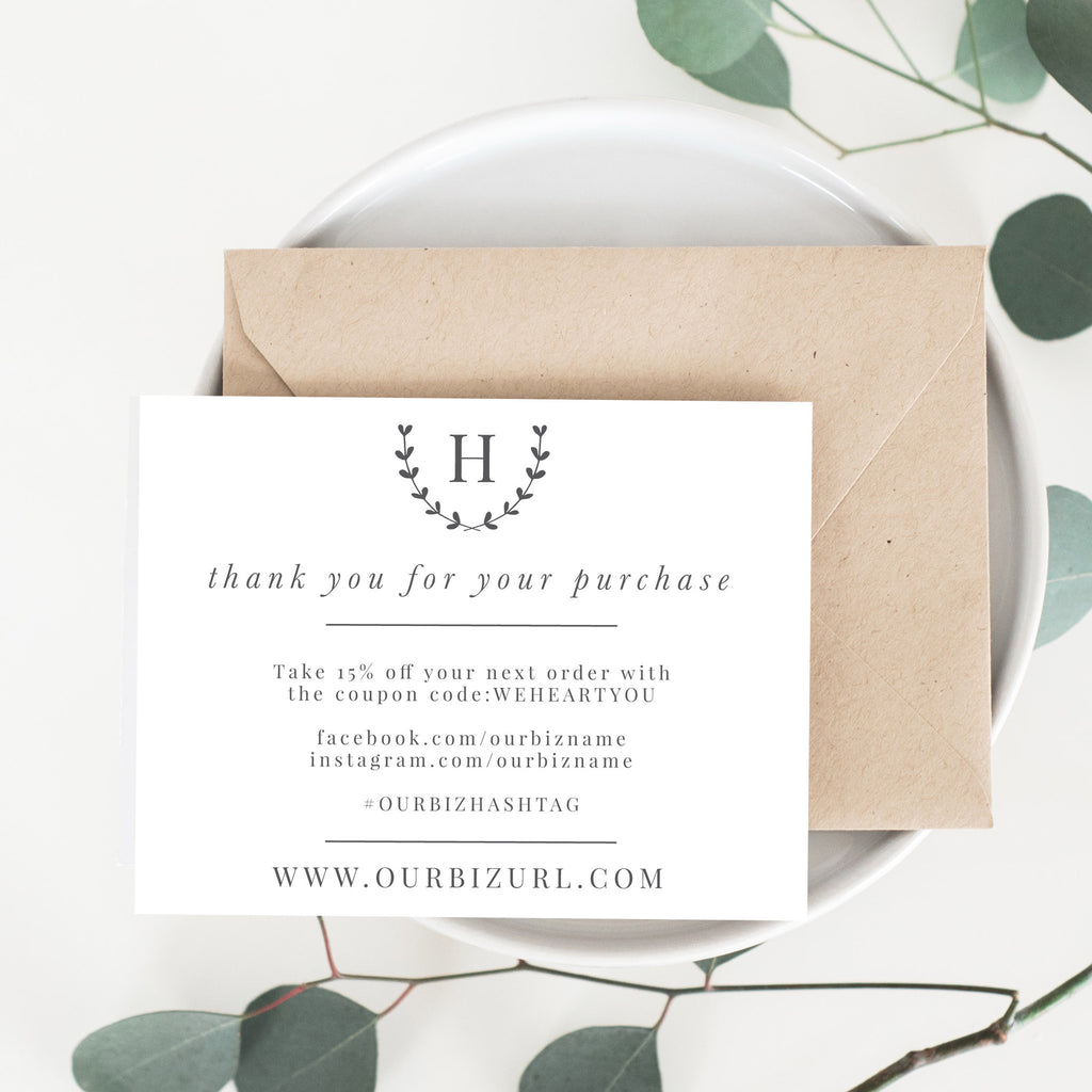 Printable Business Thank You Cards Template | Harlow