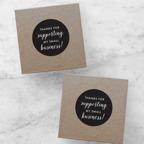 Printable Stickers | Thanks for Supporting My Small Business, Amelia