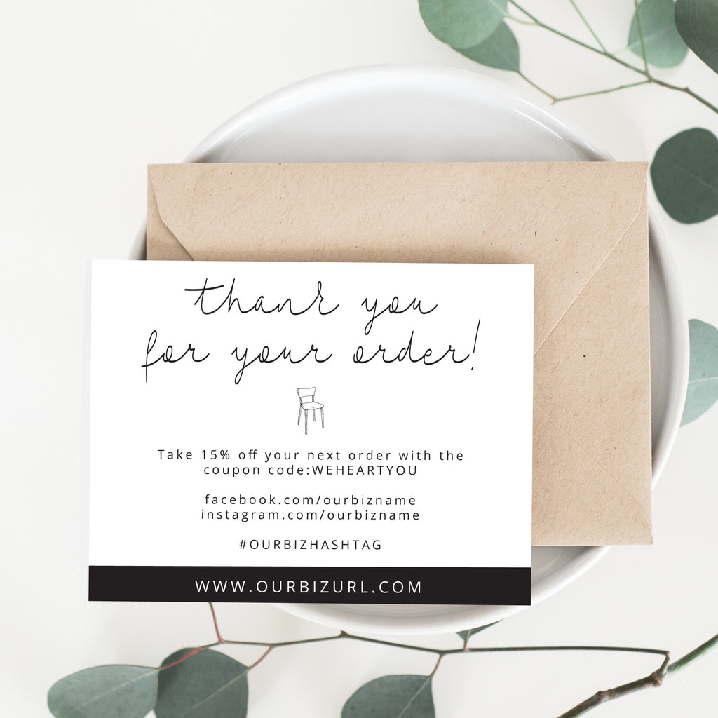Printable Business Thank You Cards Template | Mila