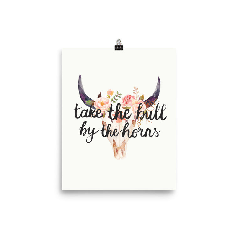 Take The Bull By The Horns Art Print