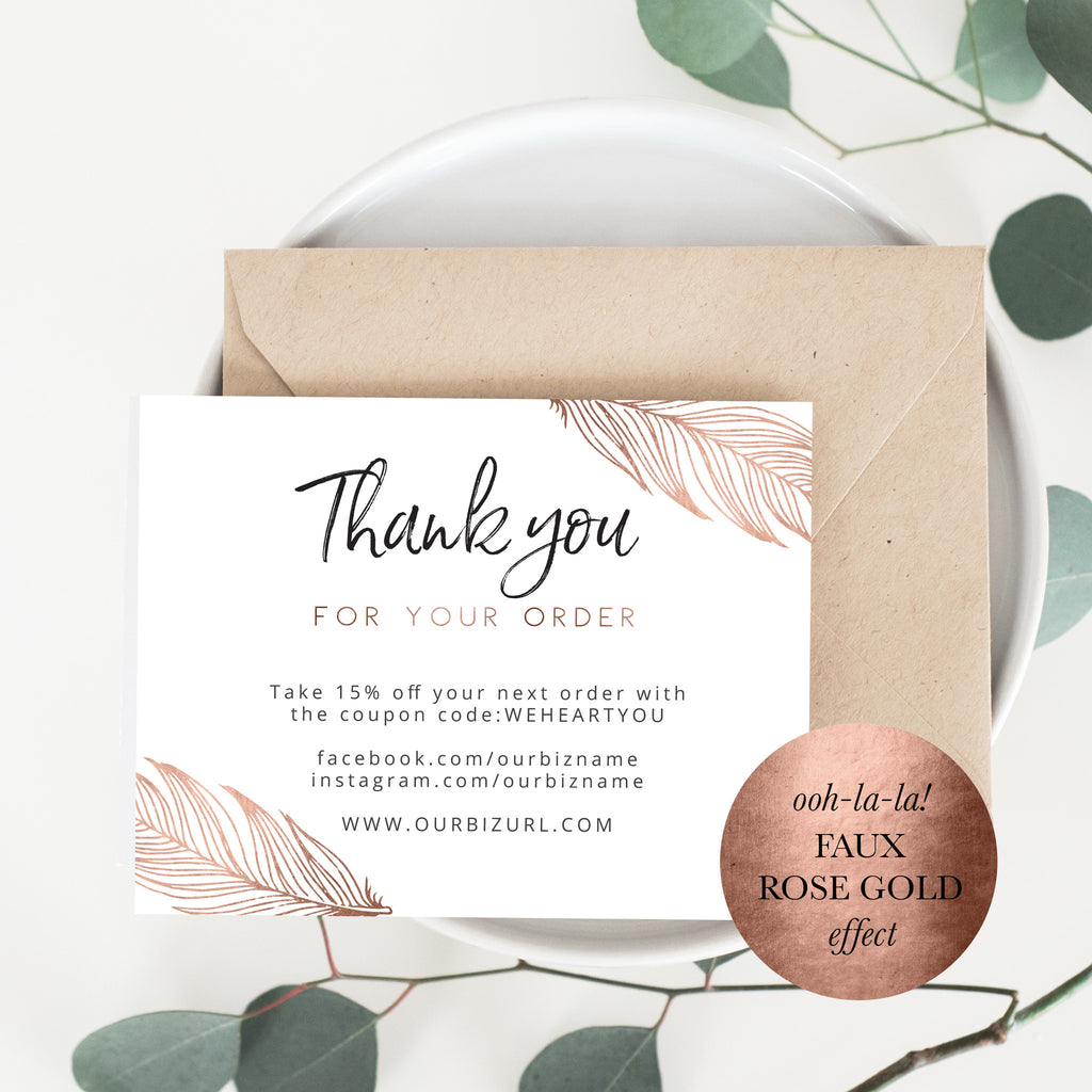 Printable Business Thank You Cards Template | Reese