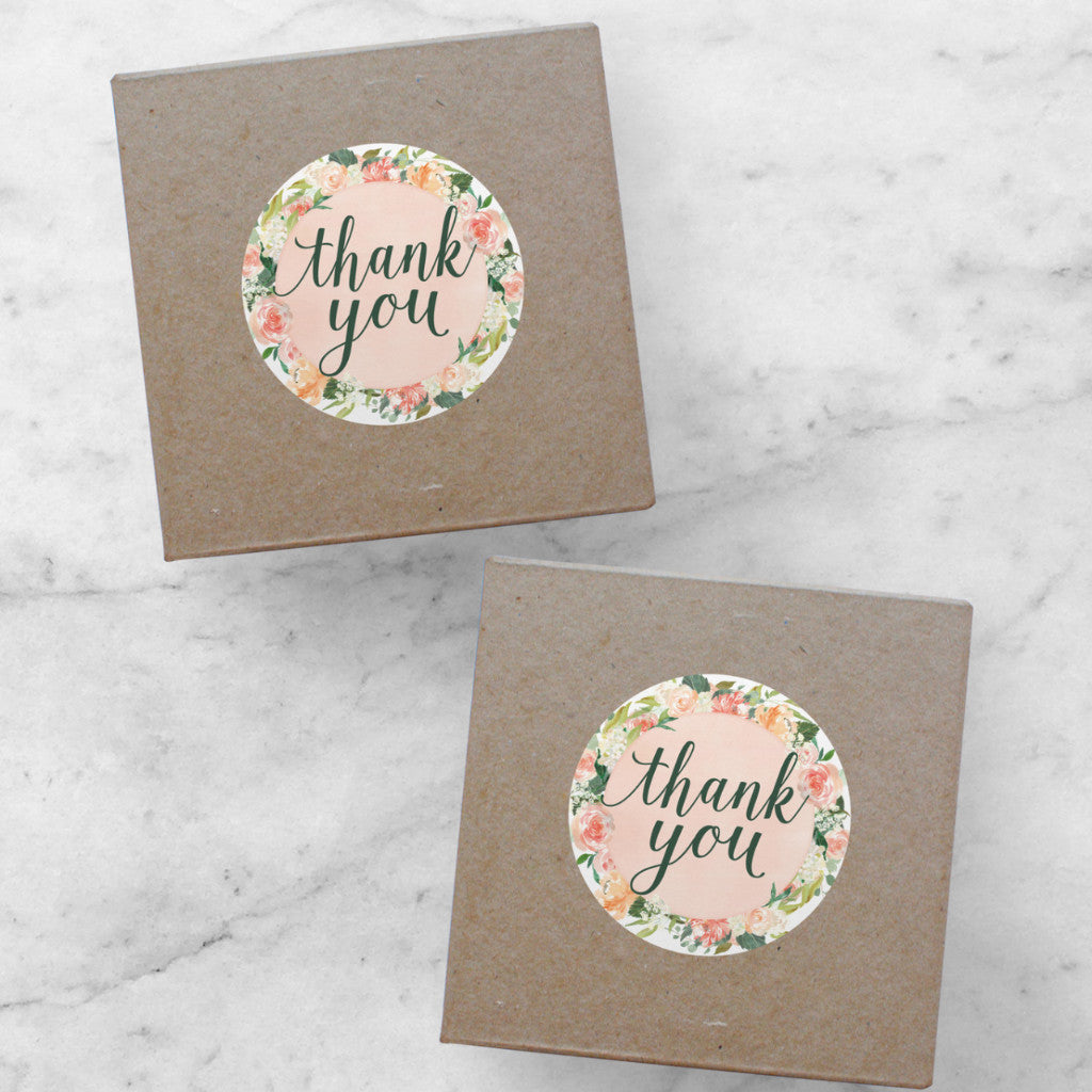 Printable Stickers | Spring Thank You