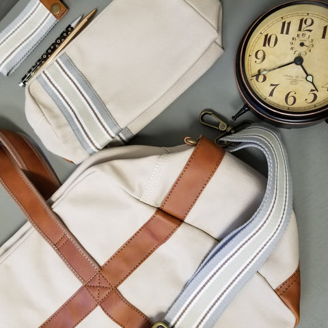 ZT156: Discover Duffel, Linen (Weekend Bag, Carryon Handbag, Sturdy Canvas)