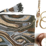 BW024: Marbling Clutch, Brown