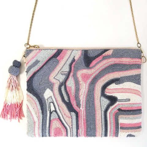 BW023: Marbling Clutch, Blush