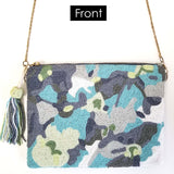 BW020: Floral camo Clutch (Handmade, Evening Clutch, Bridal Party Gifts, Bridesmaid Gift, Wedding Gifts, Holiday Gifts)