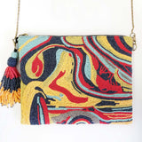 BW025: Marbling Clutch, Multi (Handmade, Evening Clutch, Bridal Party Gifts, Bridesmaid Gift, Wedding Gifts, Holiday Gifts)