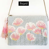BW019: Blooms & Trellis Clutch (Handmade, Evening Clutch, Bridal Party Gifts, Bridesmaid Gift, Wedding Gifts, Holiday Gifts)