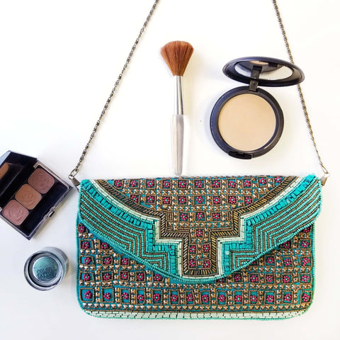 Bw005 Aztec Clutch Handmade Evening Clutch Bridal Party Gifts