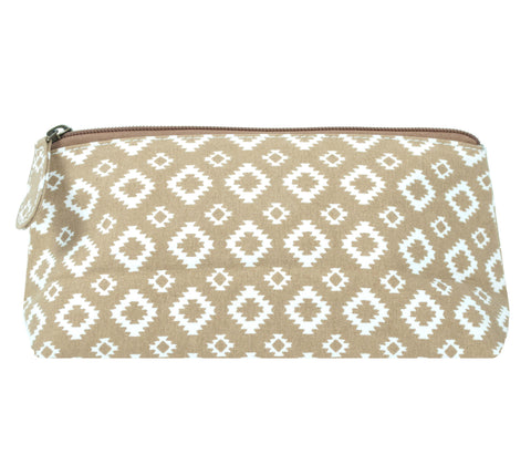 Beauty Pouch, Aztec, Brown