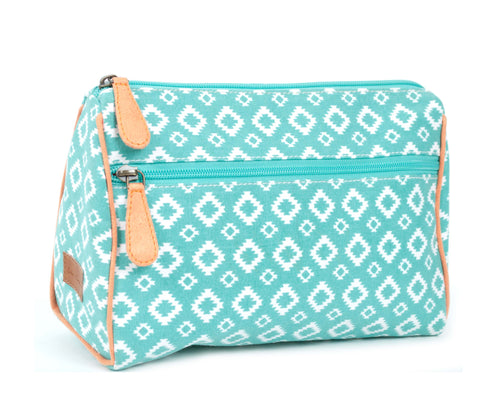 Getaway Pouch, Aztec, Turquoise