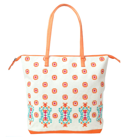 EMB005: Border Tote, Orange