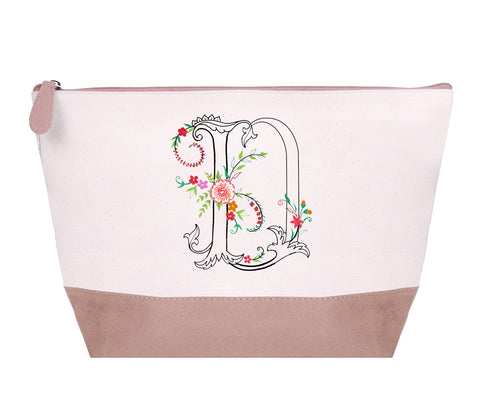 FMCP00D: Oasis Monogram Cosmetic Pouch,  Letter - D