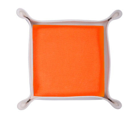 HA151: Color Block Valet Tray, Neon Orange