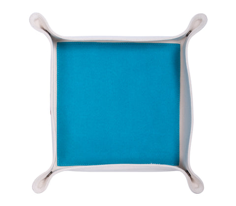 HA047: Color Block Valet Tray, Aqua