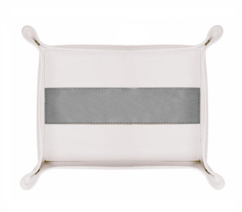 HA175: Rectangle Stripe Catch-All Tray, Gray