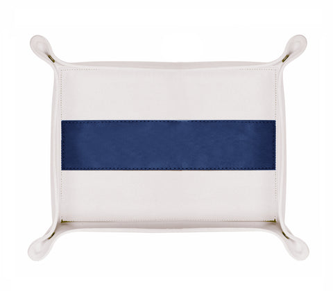 HA176: Rectangle Stripe Catch-All Tray, Navy
