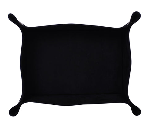 PL006: Rectangle Plush Catch-All Tray, Black