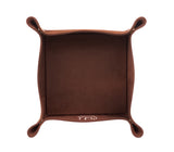 PL013: Square Plush Catch-All Tray, Brown