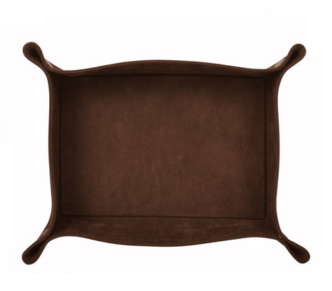 PL014: Rectangle Plush Catch-All Tray, Brown