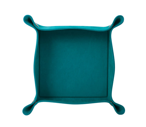 PL021: Square Plush Catch-All Tray, Teal